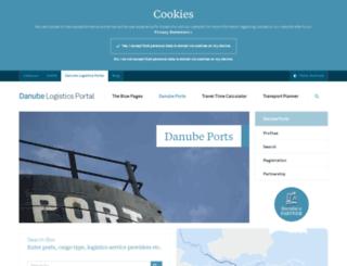 danubeports.info screenshot