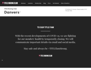 danvers-andover.titleboxingclub.com screenshot