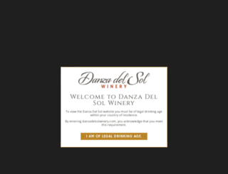 danzadelsolwinery.com screenshot