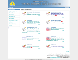 daotao.chn.edu.vn screenshot