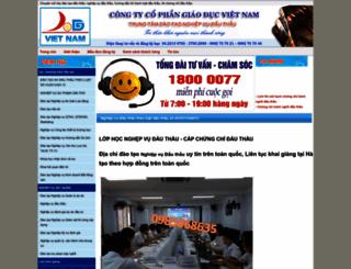 daotaodauthau.edu.vn screenshot