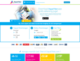 dapattiket.com screenshot