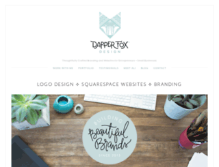 dapperfoxdesign.com screenshot
