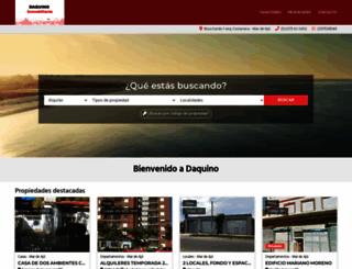 daquinoinmobiliaria.com.ar screenshot