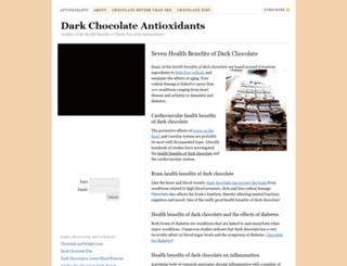 dark-chocolate-antioxidant.com screenshot