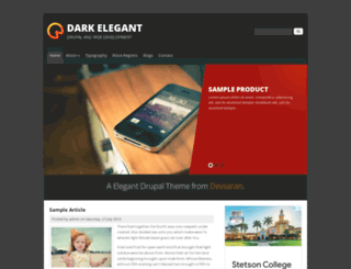 dark-elegant.techsaran.com screenshot