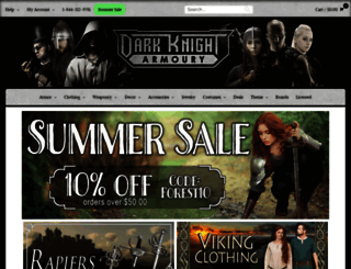 darkknightarmoury.com screenshot