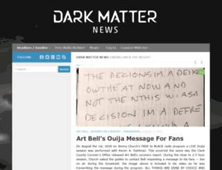 darkmatternews.com screenshot
