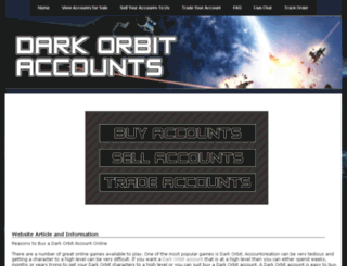 darkorbitaccount.com screenshot