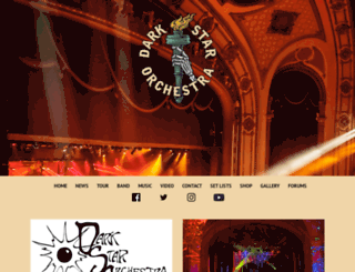 darkstarorchestra.net screenshot