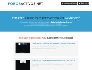 darkycheats.foroactivo.net screenshot