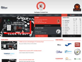 darlingtonfootballclub.co.uk screenshot