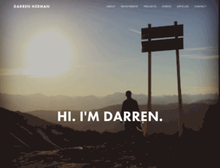 darrenherman.com screenshot