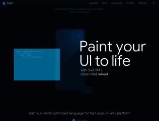 dartlang.org screenshot