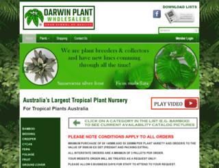 darwinplants.com.au screenshot