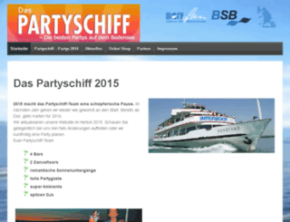 das-partyschiff.info screenshot