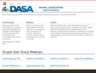 dasa.org.za screenshot