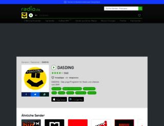 dasding.radio.de screenshot