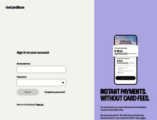 dashboard.gocardless.com screenshot