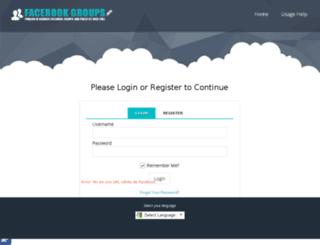 dashboard.groupsfacebook.com screenshot