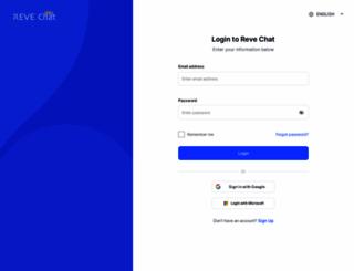 dashboard.revechat.com screenshot