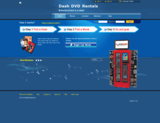 dashdvdrentals.mydvdkiosks.net screenshot