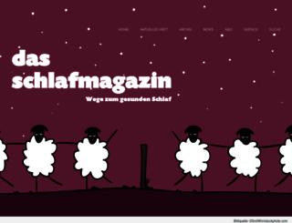 dasschlafmagazin.de screenshot