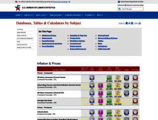 data.bls.gov screenshot