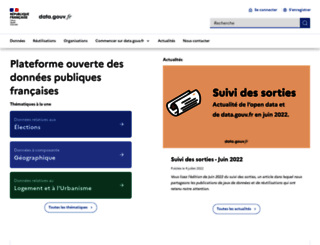 data.gouv.fr screenshot