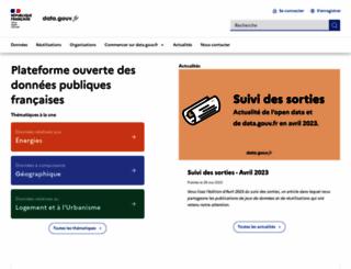 data.gouv.fr screenshot