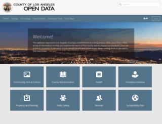 data.lacounty.gov screenshot