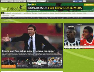data.livefutbol.com screenshot