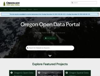 data.oregon.gov screenshot