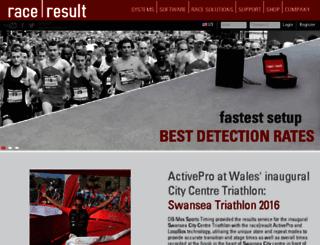 data.raceresult.com screenshot