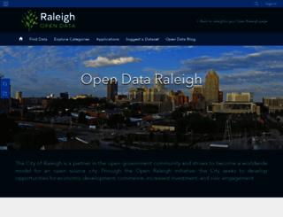 data.raleighnc.gov screenshot