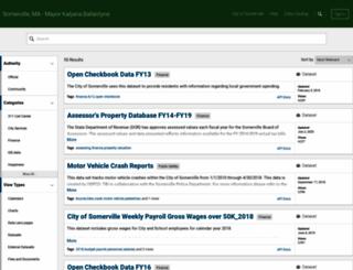 data.somervillema.gov screenshot