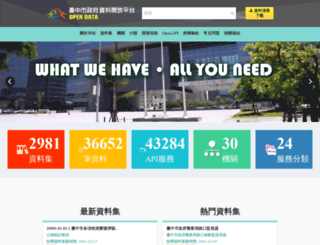 data.taichung.gov.tw screenshot
