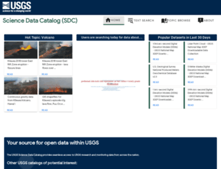 data.usgs.gov screenshot