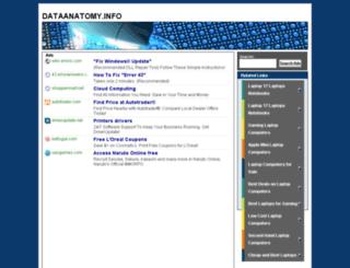 dataanatomy.info screenshot