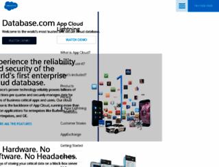 database.com screenshot