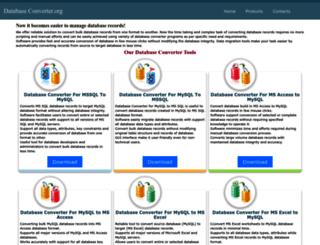 databaseconverter.org screenshot