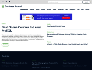 databasejournal.com screenshot