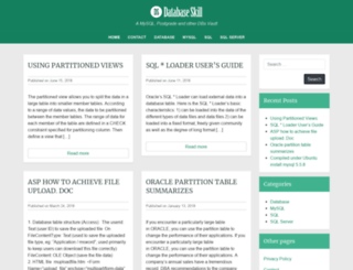 databaseskill.com screenshot