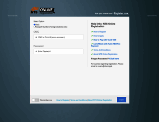 datacell.nts.org.pk screenshot