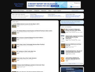 datacenterresearch.com screenshot