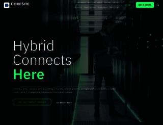 datacenters.coresite.com screenshot