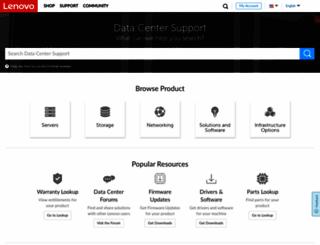datacentersupport.lenovo.com screenshot