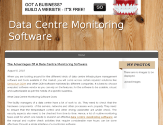 datacentremonitoringsoftware.bravesites.com screenshot