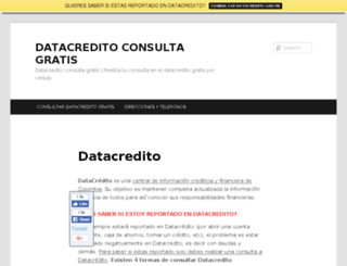 datacreditoconsultagratis.com screenshot