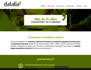 datalia.info screenshot